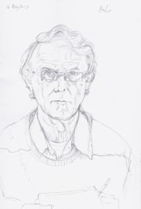 Self Portrait 16th May 2013. Pencil on paper, (21 x 15 cms, 8 x 6 ins).